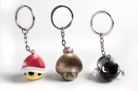 Mario Kart key chains!