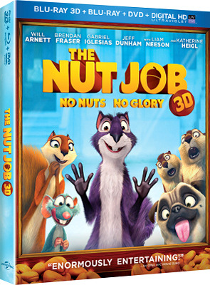 THE NUT JOB Blu-ray and DVD Cover