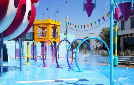 Water splashing area in Super Silly Fun Land