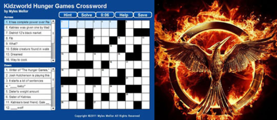 Feature hunger games crossword feat