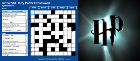 Feature harry potter crossword feat
