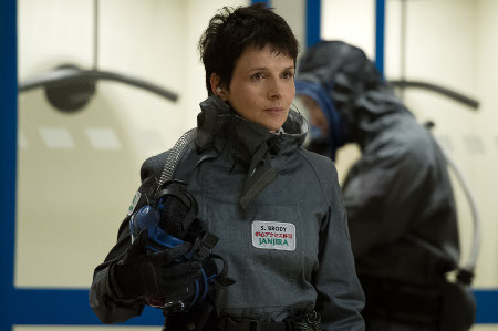 Ford's mom (Juliet Binoche) at the nuke plant