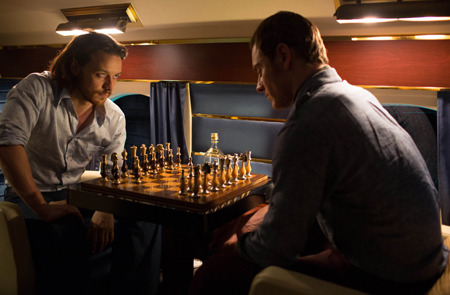Young Xavier and young Magneto play chess