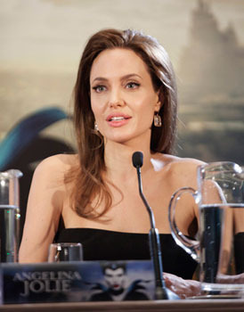 Angelina at press conference for the film