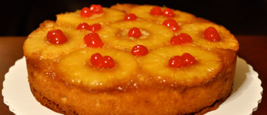 Feature pineapple upside down cake feat