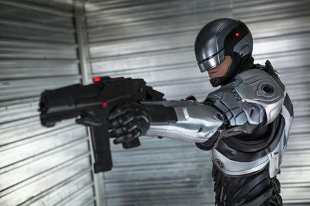 Robocop suited up