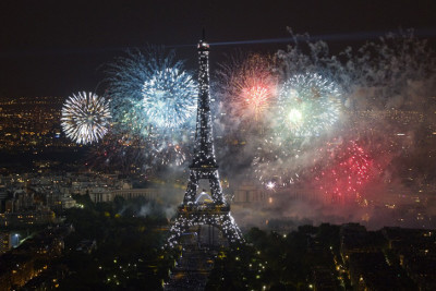 Bastille Day fireworks in Paris!