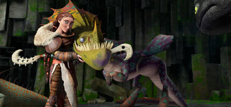 Mom Valka is an ace dragon master