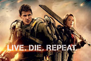 Tom Cruise and Emily Blunt on the Edge of Tomorrow