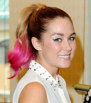 Lauren Conrad's pretty pink ponytail