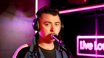 Sam Smith performing on BBC Live Lounge