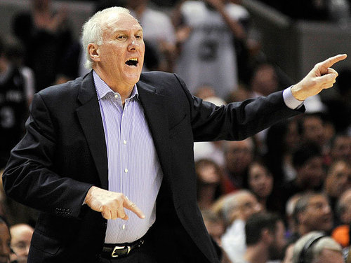 Popovich yells orders at his troops