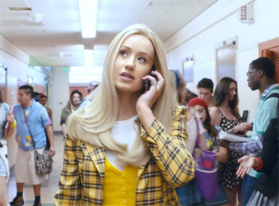Iggy does her best Clueless in the vid for Fancy