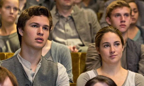 Ansel and Shailene as Caleb and Tris in Divergent