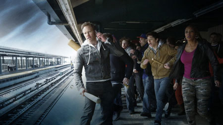 Sharks on a train? Heroes are ready