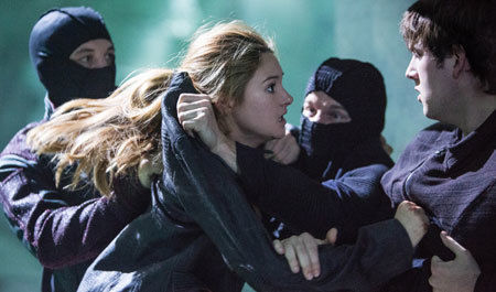 Tris attacked by jealous Dauntless members