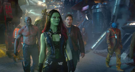 Gamora leading the way