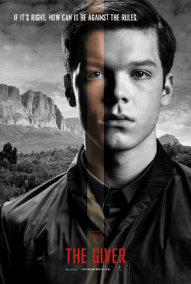 Cameron as Asher on The Giver poster