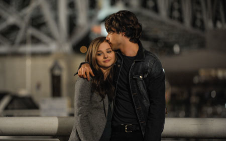 Adam (Jamie Blackley) expresses his feelings for Mia (Chloë)