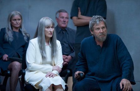 Meryl Streep and Jeff Bridges as The Elder and The Giver
