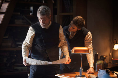 Jeff Bridges and Brenton Thwaites in The Giver