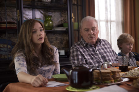 Mia with her Grandpa (Stacy Keach)