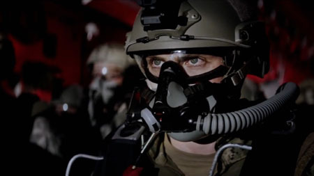 Ford (Aaron Johnson) ready to parachute to the rescue
