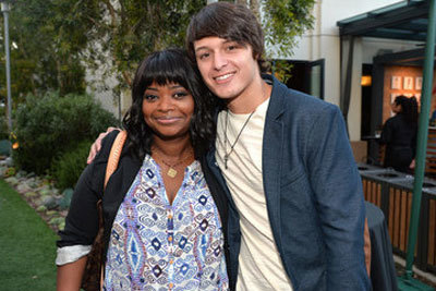Nolan with Octavia Spencer on set