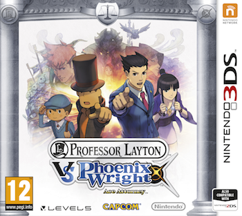 Professor Layton vs Phoenix Wright Ace Attorney, available now!