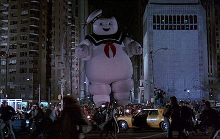 The giant Stay-Puffed Marshmallow Man