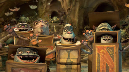 Some of the Boxtrolls in a happy moment