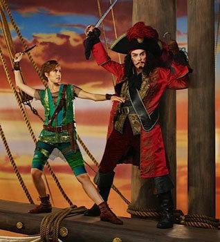 Christopher Walken as Captain Hook -- That's a lot of blush!