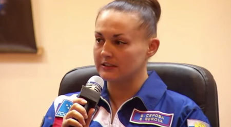 Elena Olegovna Serova is heading to the ISS