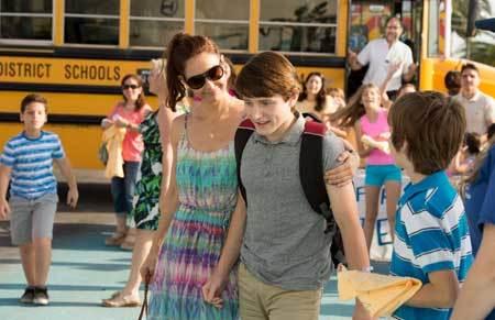 Sawyer's mom (Ashley Judd) picks him up at school