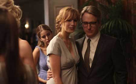Pamela (Kelly Reilly) and dad Miles (Linus Roache) grow closer