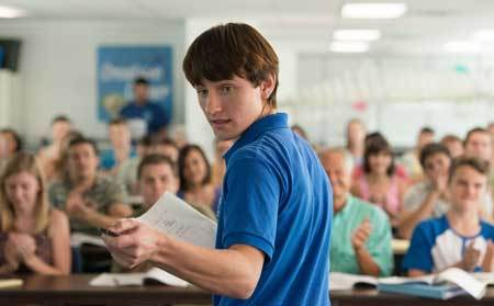 Sawyer (Nathan Gamble) talks to aquarium trainers