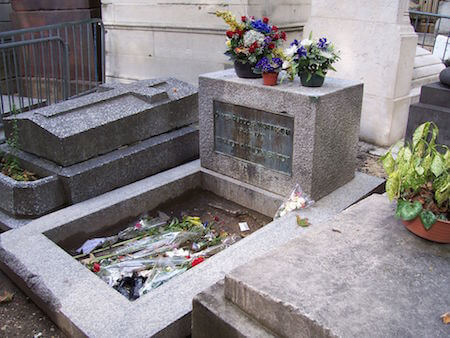 Fans still visit Pere Lachaise to pay tribute to Jim Morrison by leaving flowers on his grave.