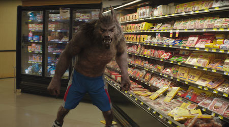Werewolf in the grocery store