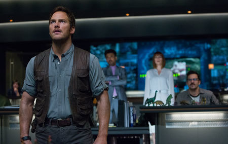 Owen in the Jurassic World control room