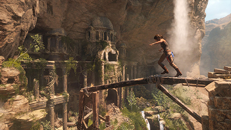Lara finds an entrance to a lost tomb.