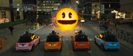 PAC-MAN vs. the Mini Coopers