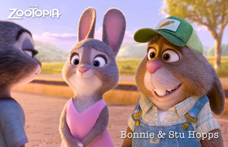 Zootopia Characters Bonnie and Stu Hopps