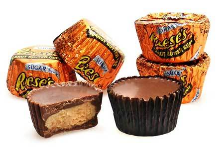 Peanut butter cups are gooey goodies