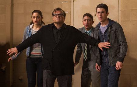R.L. Stine (Jack Black) tries to protect the teens