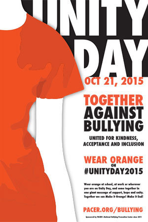 Wear orange on Unity Day
