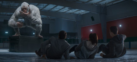 The abominable snowman has the kids cornered