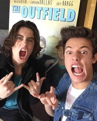 Long-haired Nash with Cameron