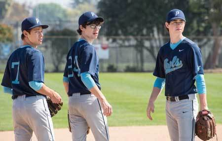 The Outfield guys on the field