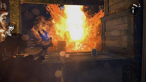 Lara won't always shy away from a fire fight.