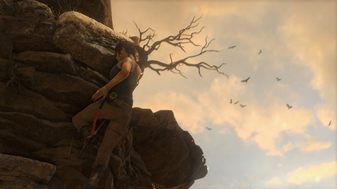 Lara can climb with the best of them.